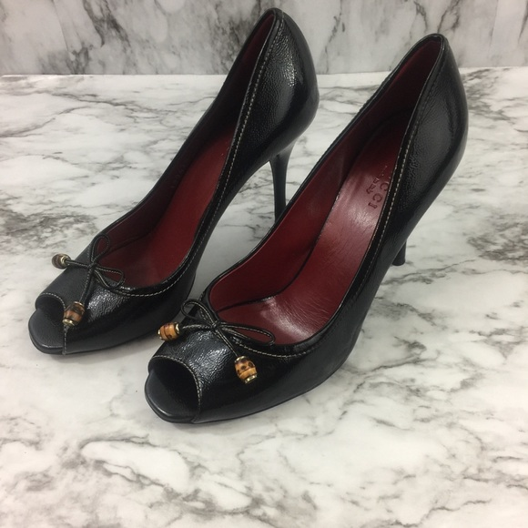 cb2fc302e Gucci Patent Leather Peep Toe Pumps. M_5ad0ac179cc7ef7e89a120b9